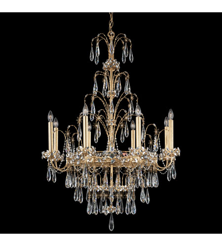 Schonbek Chandelier Replacement Crystals: Schonbek Ekaterina 8 Light Chandelier In French Gold And