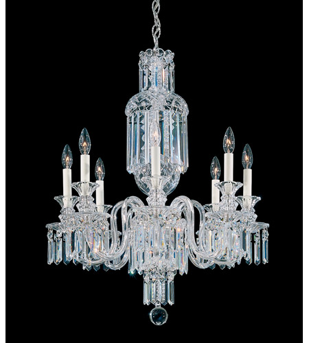 Fairfax 8 Light 110V Chandelier in Silver with Clear Heritage Crystal photo