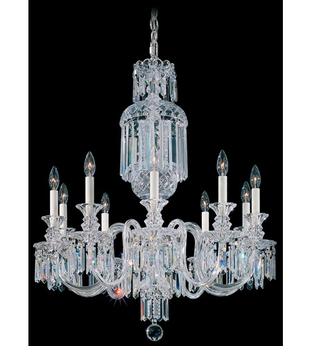 Fairfax 10 Light 110V Chandelier in Silver with Clear Heritage Crystal photo