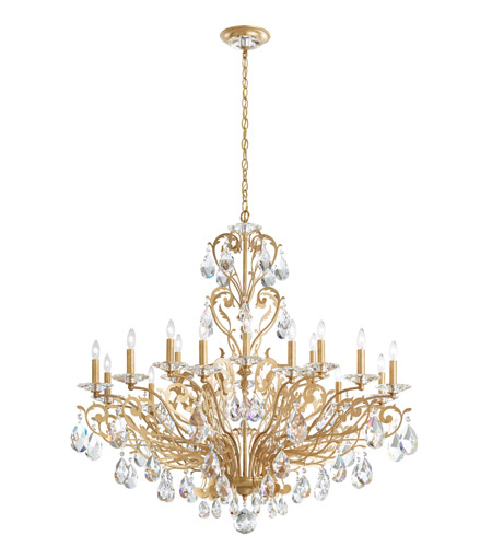 Schonbek French Gold Filigrae Chandeliers