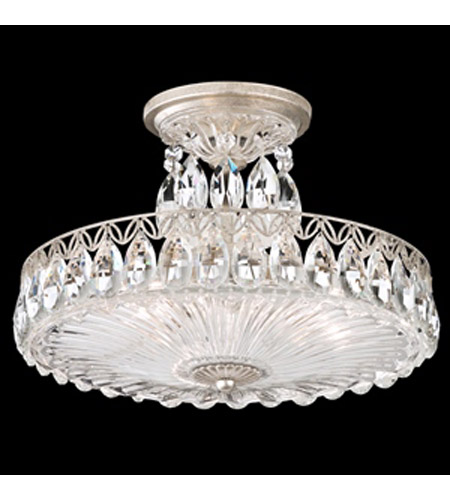 Schonbek FL7788N-48H Fontana Luce 3 Light 14 inch Antique Silver Semi Flush Mount Ceiling Light photo