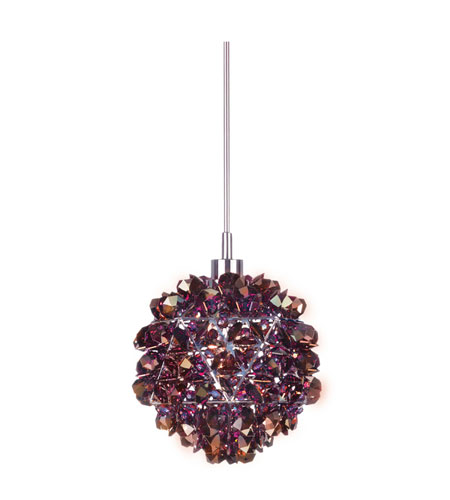 Schonbek Geode 1 Light Pendant in Stainless Steel and Kashmir Swarovski Elements Trim GD0505KAS photo