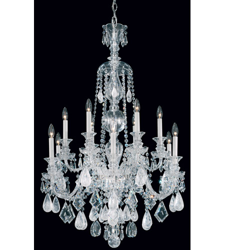 Schonbek 5508CL Hamilton 12 Light 30 inch Silver Chandelier Ceiling Light in Clear photo