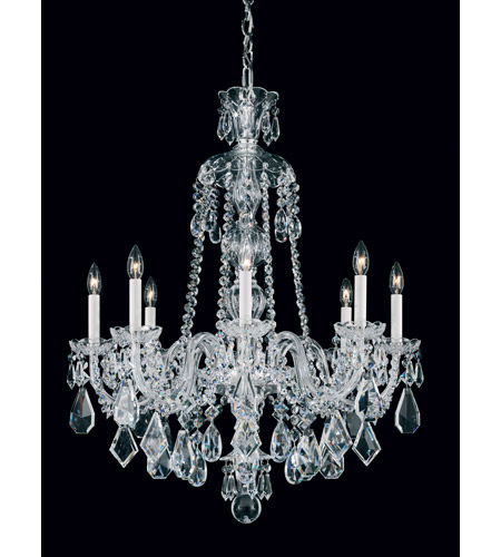 Schonbek Hamilton 8 Light Chandelier in Silver and Clear Heritage Handcut Trim 5737CL photo