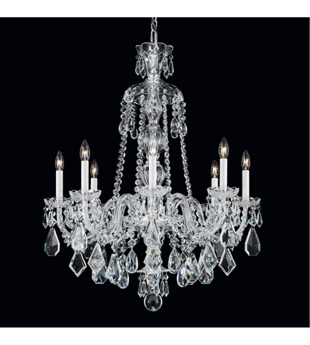 Schonbek 5737CL Hamilton 8 Light 28 inch Silver Chandelier Ceiling Light in Clear Heritage photo