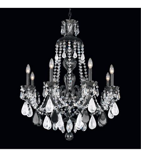 Schonbek 5537 55bk hamilton 8 light jet black chandelier ceiling schonbek 5537 55bk aloadofball Choice Image