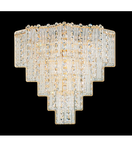 Schonbek Jubilee 6 Light Wall Sconce in Gold and Clear Gemcut Trim 2670-20 photo