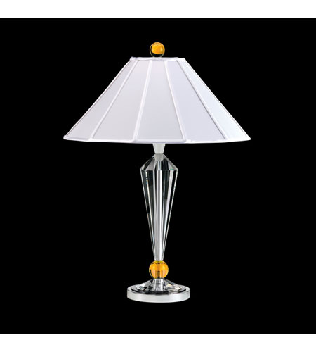 Schonbek Jasmine Lamps 1 Light Table Lamp in Polished Silver and Clear Optic Handcut Trim 10464N-40 photo