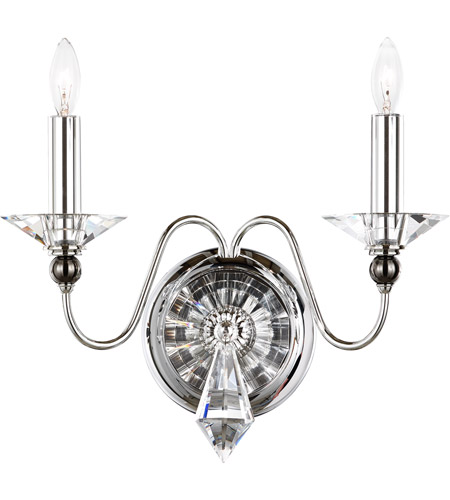 Schonbek 9672-40CL Jasmine 2 Light 6 inch Silver Wall Bracket Wall Light in Polished Silver, Clear Vintage photo