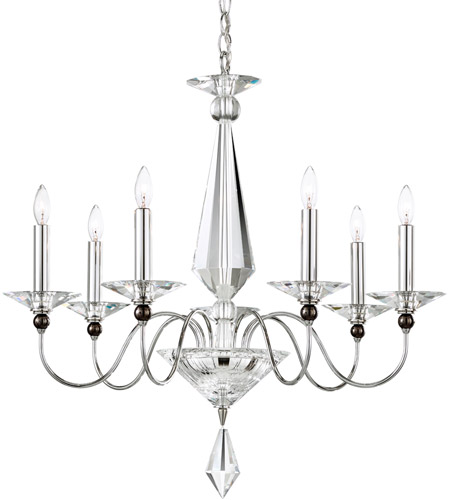 Schonbek 9677-40CL Jasmine 7 Light 26 inch Silver Chandelier Ceiling Light in Clear Vintage photo