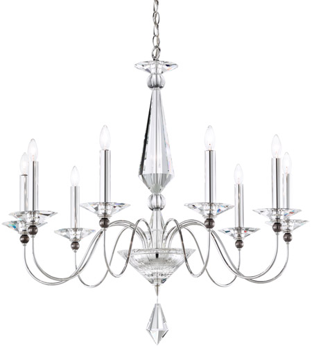 Schonbek 9679-40CL Jasmine 9 Light 33 inch Silver Chandelier Ceiling Light in Clear Vintage photo