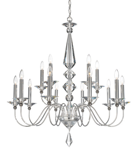 Schonbek 9685-40CL Jasmine 15 Light 36 inch Silver Chandelier Ceiling Light in Polished Silver, Clear Vintage photo