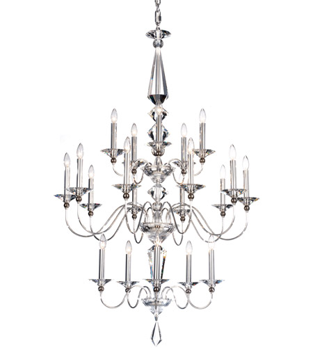 Schonbek 9690-40CL Jasmine 20 Light 36 inch Silver Chandelier Ceiling Light in Polished Silver, Clear Vintage photo