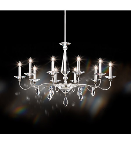 Schonbek 9695N-40CL Jasmine 10 Light 25 inch Silver Chandelier Ceiling Light in Clear Vintage  photo