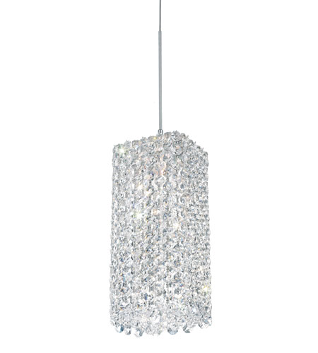 Schonbek RE0509A Refrax 1 Light 5 inch Stainless Steel Pendant Ceiling Light in Clear Spectra, Geometrix,Canopy Sold Separately photo