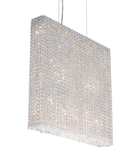 Schonbek Refrax 11 Light Pendant in Stainless Steel and Crystal Swarovski Elements Trim RE2524S photo