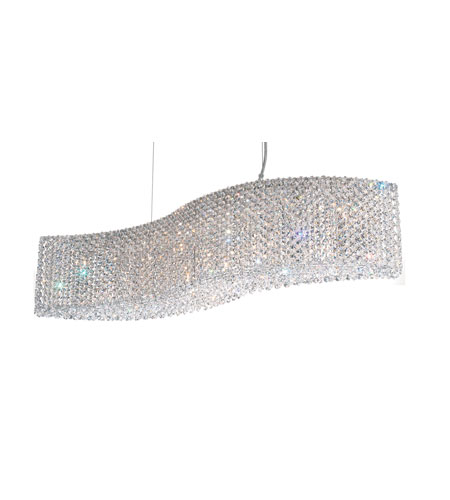 Schonbek Refrax 13 Light Pendant in Stainless Steel and Clear Spectra Crystal Trim RE3214A photo