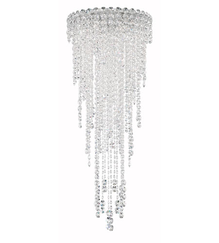 Schonbek CH1202N-401A Chantant 4 Light 14 inch Stainless Steel Flush Mount Ceiling Light in Clear Spectra, Strand photo