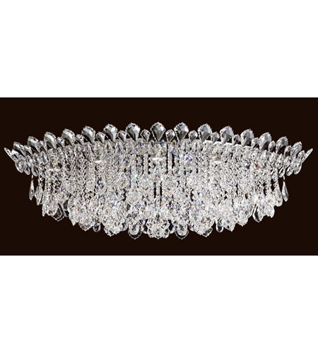 Schonbek TR4801N-401A Trilliane Strands 8 Light 25 inch Stainless Steel Flush Mount Ceiling Light in Clear Spectra photo