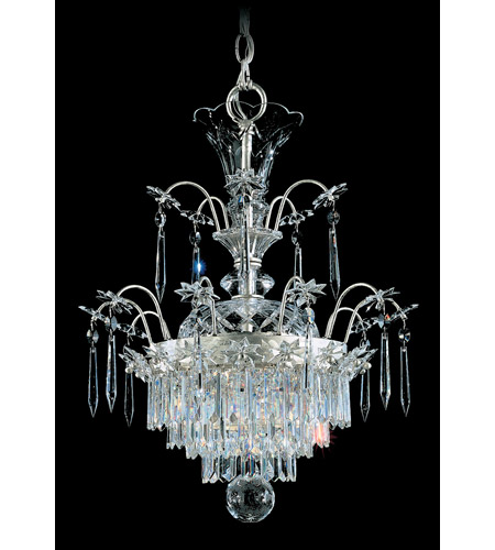 Schonbek Kirov 3 Light Chandelier in Antique Silver and Clear Heritage Trim 7171-48 photo