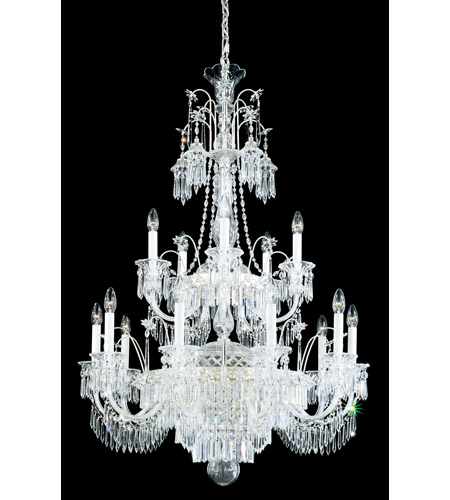 Schonbek Kirov 20 Light Chandelier in Antique Silver and Clear Heritage Trim 7178-48 photo