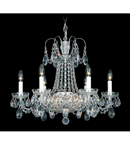 Schonbek La Belle 12 Light Chandelier in Silver and Clear Heritage Handcut Trim 2962-40 photo