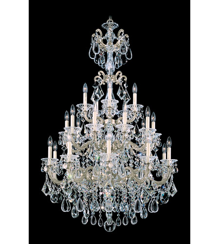 Schonbek La Scala 25 Light Chandelier in Heirloom Silver and Clear Heritage Handcut Trim 5012-44 photo