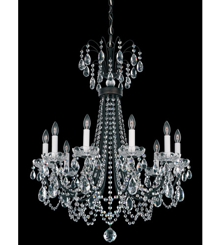 Schonbek Lucia 10 Light Chandelier in Heirloom Bronze and Clear Heritage Handcut Trim LU0003N-76H photo