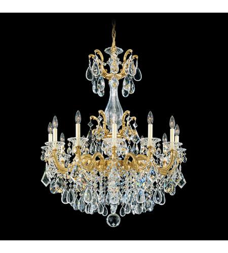 Schonbek la scala 12 light chandelier in heirloom gold and clear schonbek la scala 12 light chandelier in heirloom gold and clear optic handcut trim 5011 aloadofball Images