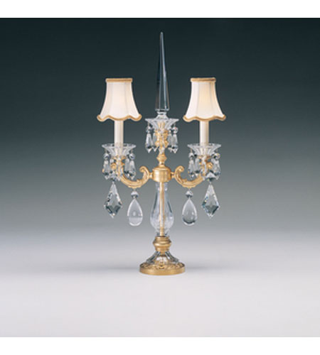 Schonbek La Scala 2 Light Table Lamp in Heirloom Gold and Clear Heritage Handcut Trim 70062N-22 photo