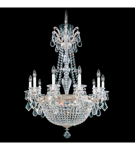 Schonbek 5080-48O La Scala Empire 15 Light 30 inch Antique Silver Chandelier Ceiling Light in Clear Optic Handcut photo