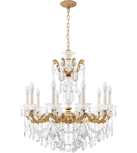 Schonbek 5074-26 Lascala 10 Light 28 inch French Gold Chandelier Ceiling Light in Cast French Gold, La Scala Heritage alternative photo thumbnail