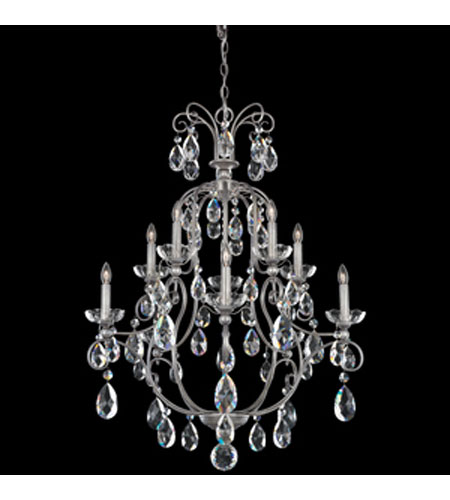 Schonbek Liberte 10 Light Chandelier in Roman Silver with Clear Spectra Crystal LI0004N-80A photo