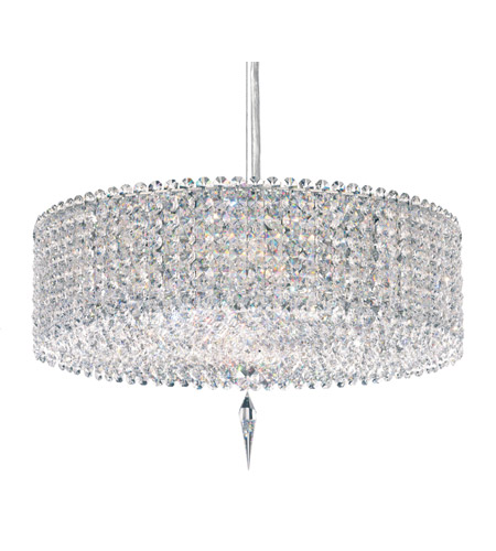 Schonbek Matrix 5 Light Pendant in Stainless Steel and Clear Spectra Crysta Trim MC1605A photo