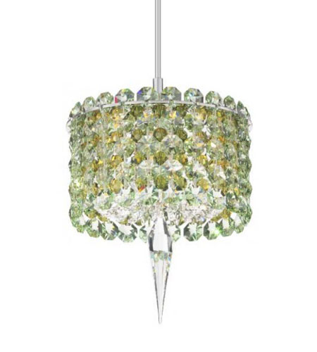 Schonbek Geometrix Matrix 1 Light Pendant in Silver and Strass Crystal MC0503EG photo