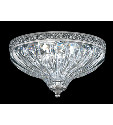 Schonbek Milano 2 Light Flush Mount in Roman Silver 5630-80 photo