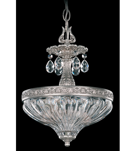 Schonbek Milano 2 Light Pendant in Antique Silver and Clear Optic Handcut Trim 5637-48O photo