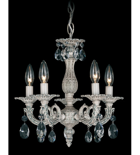 Schonbek Milano 5 Light Chandelier in Cypress and Clear Spectra Crystal Trim 5662-88A photo