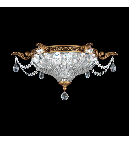 Schonbek 5633-83A Milano 2 Light 17 inch Florentine Bronze Flush Mount Ceiling Light in Clear Spectra photo