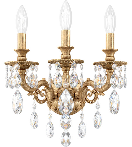 Schonbek Parchment Gold Wall Sconces