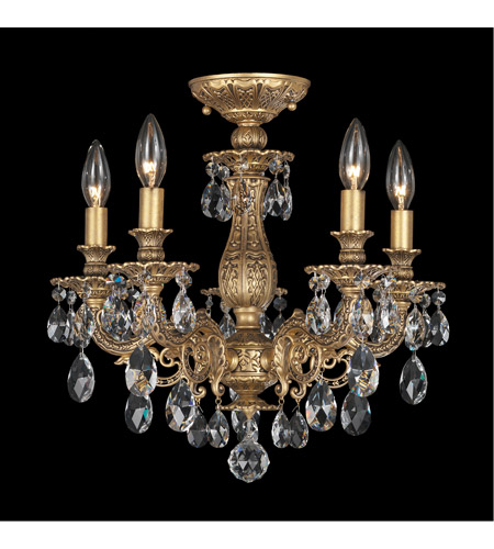 Schonbek 5655-83A Milano 5 Light 16 inch Florentine Bronze Semi Flush Mount Ceiling Light in Clear Spectra photo
