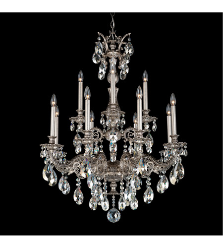 Schonbek 5683-80SH Milano 12 Light 31 inch Roman Silver Chandelier Ceiling Light in Silver Shade photo