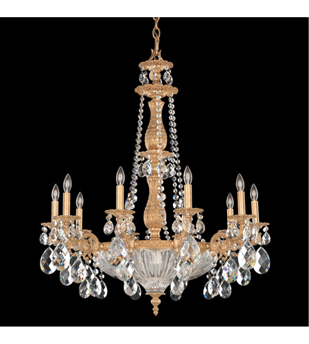 Schonbek 5693-26O Milano 14 Light 30 inch French Gold Chandelier Ceiling Light in Clear Optic Handcut photo