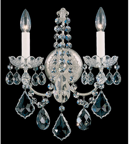 Schonbek New Orleans 2 Light Wall Sconce in Antique Silver and Clear Heritage Handcut Trim 3651-48H photo
