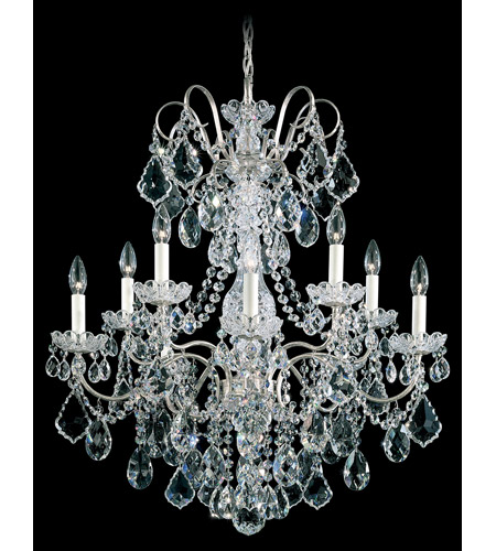 Schonbek 3657-48H New Orleans 10 Light 28 inch Antique Silver Chandelier Ceiling Light in Clear Heritage photo