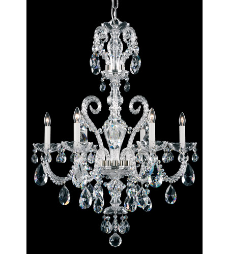 Schonbek Novielle 6 Light Chandelier in Polished Silver and Clear Spectra Crystal Trim NV3906N-40A photo