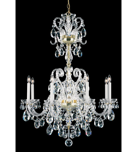 Schonbek Novielle 8 Light Chandelier in Polished Gold and Clear Spectra Crystal Trim NV3908N-20A photo