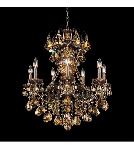 Schonbek 3656-76TK New Orleans 7 Light 24 inch Heirloom Bronze Chandelier Ceiling Light in Golden Teak photo
