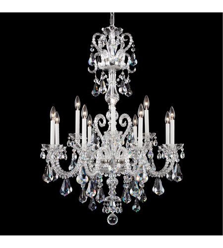 Schonbek NV3912N-40S Novielle 12 Light 32 inch Silver Chandelier Ceiling Light in Clear Swarovski photo