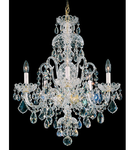 Schonbek Olde World 5 Light Chandelier in Gold and Crystal Swarovski Elements Trim 6810-20S photo